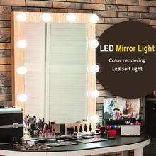 Kit de luces de espejo de tocador de luz de maquillaje LED con bombillas de luz regulables lámpara de pared de iluminación de estilo de luces de tocador de Hollywood