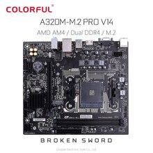 Original Bunte Gebrochen Schwert A320M-M.2 PRO V14 AMD Motherboard mATX Dual Kanal DDR4 Unterstützung Ryzen NVMe SSD 1000M LAN