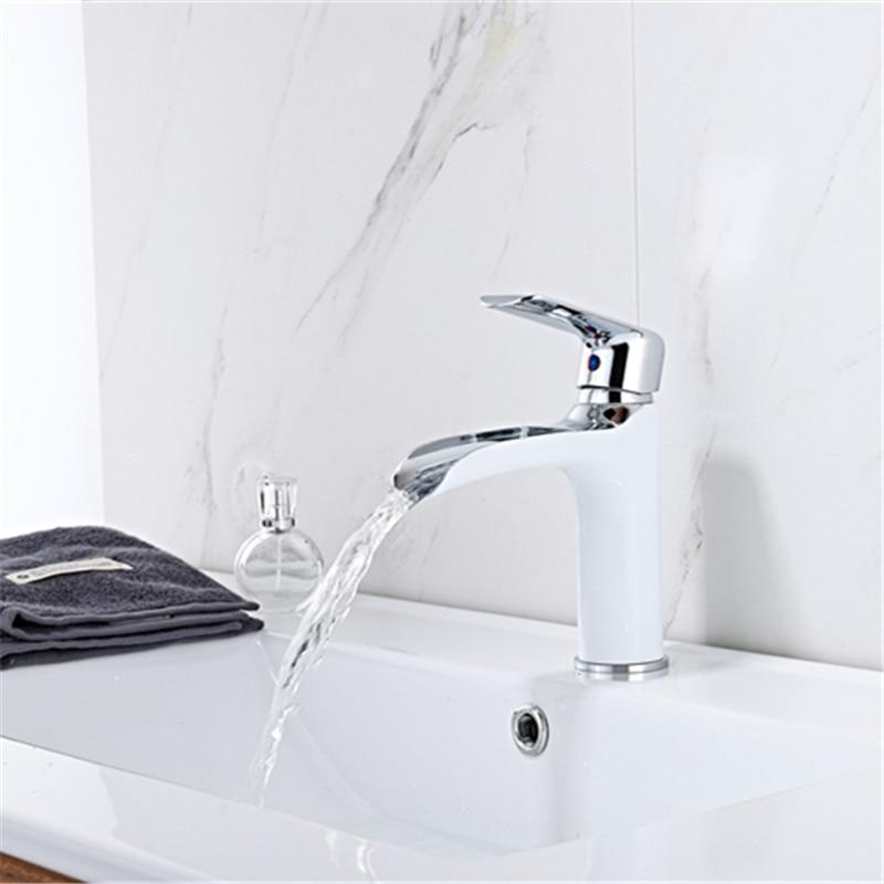 Robinets de bassin nouveau Style haut/bas cuivre salle de bain cascade type ouvert robinet mitigeur de lavabo robinet de bain robinet d'eau