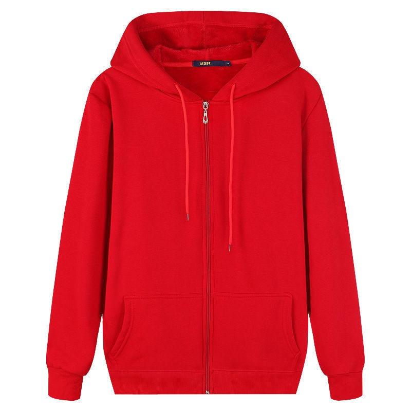 2020 Autumn Winter Mens Sweatshirts Solid Slim Long Sleeve Warm Hoodies Men Stand Collar Zipper Coats Men Hoodies 2
