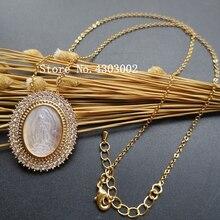 10 pz/lotto 28x33mm Naturale AAA CZ Vergine di Guadalupe Madre collana di conchiglie di Perle per le donne e Regalo