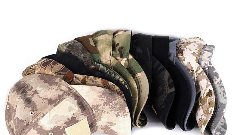 17 Colors Camo Men's gorras Baseball Cap Male Bone Masculino Dad Hat Trucker New Tactical Men's Cap Camouflage Snapback Hat 2020 1