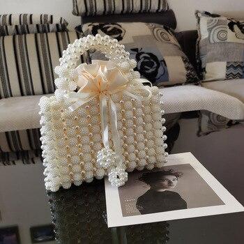 Pearl Beaded Women's Mini Handbag  4
