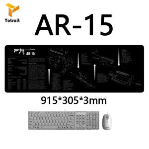 Tactical AR15 AK47 Gun Cleaning Rubber Mat With Parts Diagram Instructions Armorers Bench Mat Mouse Pad Accessories