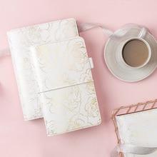 Foglio di Golden Floral Notebook e riviste Quotidiano libro A5A6 Planner travelers notebook negozio di cartoleria scuola forniture