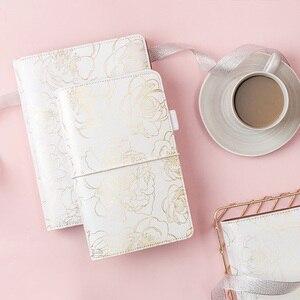 Image 1 - Folie Gouden Bloemen Notebook En Tijdschriften Dagelijkse Boek A5A6 Planner Traveler S Notebook Briefpapier Schoolbenodigdheden