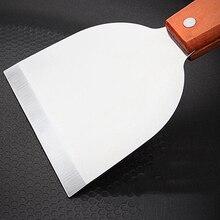 Домашний шпатель Кухня Нержавеющая сталь Торт Металлические крем Плоский блины пиццы принадлежности для гриля