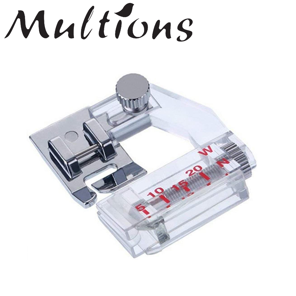 1Pc Sewing Machine Foot Adjustable Tap Bias Binder Foot for All Low Shank Snap-On Singer Brother DIY Sewing Machine Parts