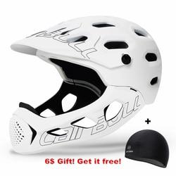 Ultralight Mountain kask rowerowy człowiek pokryte MTB dół Hill kask fullface Cairbull Inte formowane TRAIL BMX kaski rowerowe|Kaski rowerowe|Sport i rozrywka -