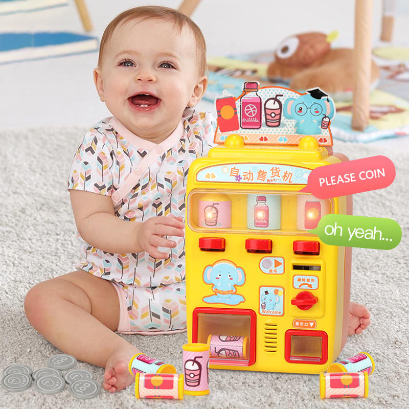 Mini Simulation Vending Machine Toy Children's Puzzle Game Interactive Plays House Talking Girl Toy Gift