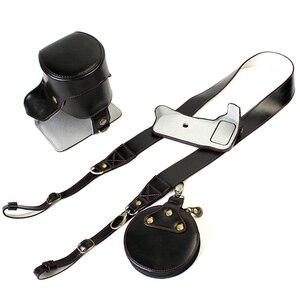 Image 5 - Funda de cuero PU para cámara Nikon D3200, D3100, D3400, D3300, 18 55mm, carcasa DSLR para lente con apertura inferior de batería