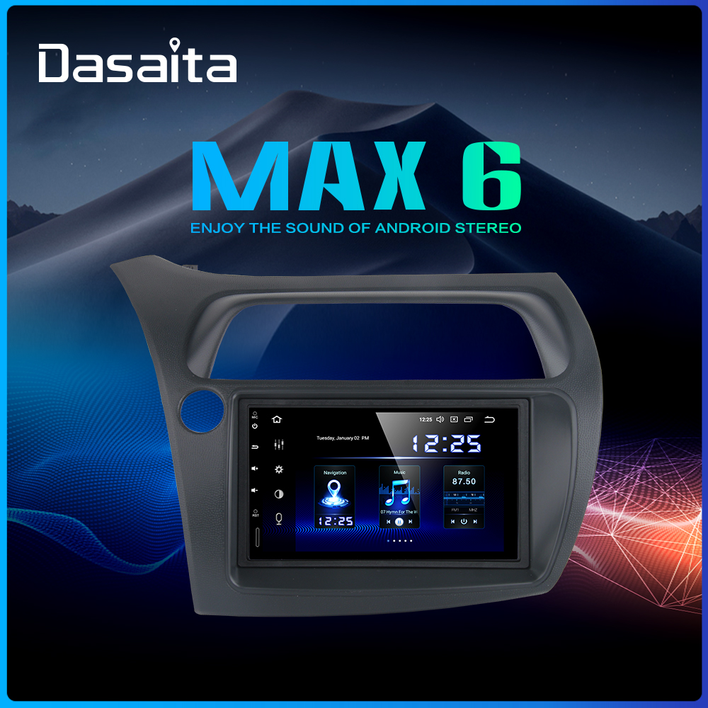 Dasaita 7 HD Touch screen Car Android 9.0 Radio GPS Player Navi for Honda Civic Hatchback 2006-2011 Autostereo audio TDA7850 image