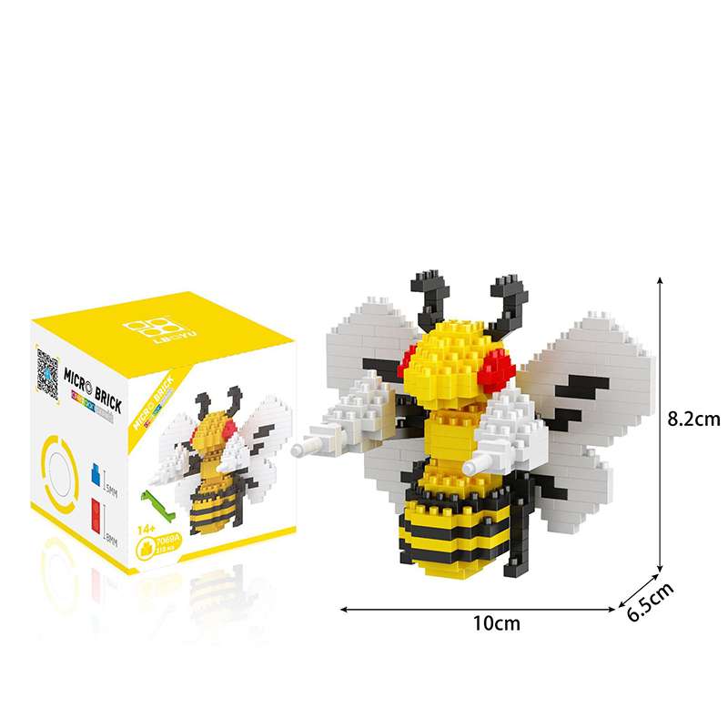 Bloques Micro Diamond Nanobricks Modelo 3D RSVT Mini Toy Animal Bloque De Construcci/ón Regalos De Cumplea/ños para Los Ni/ños Juguetes Educativos