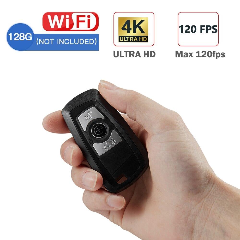Mini voiture clé caméra 4K UHD porte-clés WIFI caméra capteur caméscope mouvement DVR Micro caméra Sport DV moniteur sécurité vidéo ip caméra