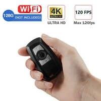 Mini cámara de llave de coche 4K UHD Keyfob WIFI Cámara Sensor videocámara movimiento DVR Micro Cámara deporte DV Monitor de seguridad vídeo de la cámara ip