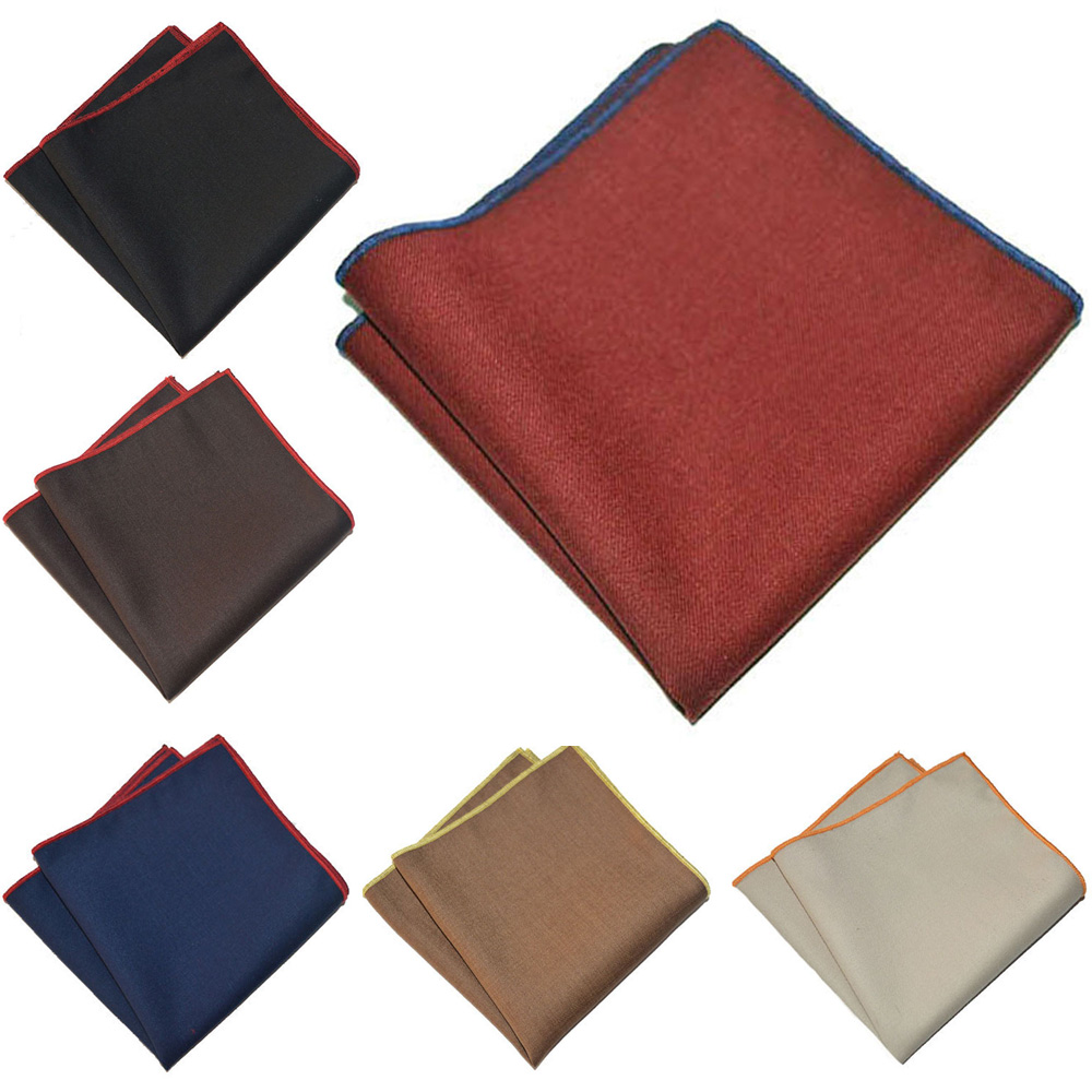 Men's Business Handkerchief Colorful Rolled Pocket Square Cotton Hanky YXTIE0327