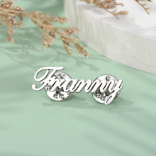 Brooch Wedding-Bridesmaid Pins for Women Jewelry Gifts Initial-Letters Any-Name Handmade
