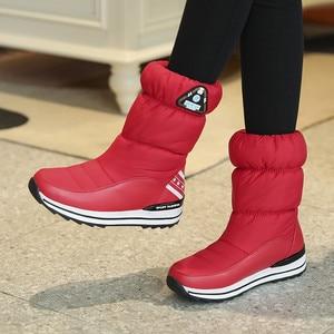 Image 3 - FEDONAS yeni kadın Flats platformları kış sıcak kar botları kaliteli su geçirmez ayakkabı kadın kadın yüksek orta buzağı Boots ayakkabı