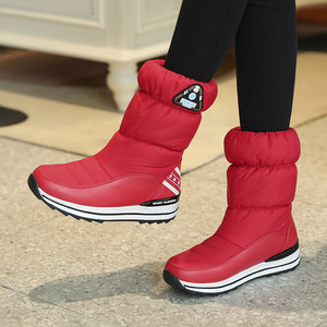 Image 3 - Fedonas最新の女性フラットプラットフォーム冬暖かい雪のブーツ品質防水靴高靴