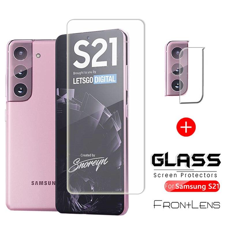 Защита экрана для Samsung Galaxy S21 S 21 Plus, Защитное стекло для смартфона на SamsunS21 S21Plus GalaxyS21 + закаленная пленка