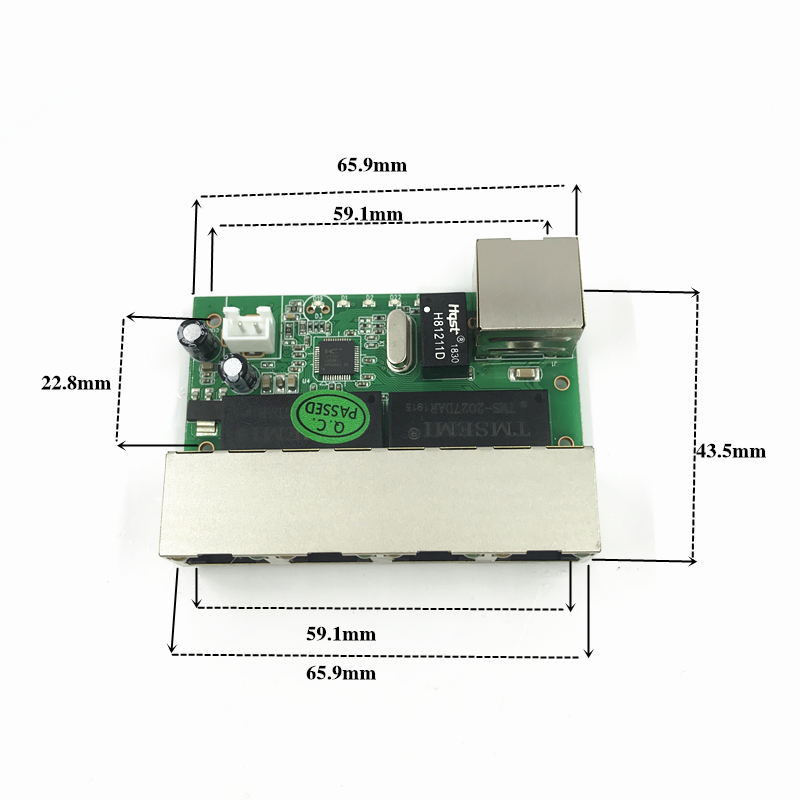 5 port ethernet switch   circuit board for ethernet switch module 10/100mbps 8 port PCBA board OEM Motherboard   lan hub 2