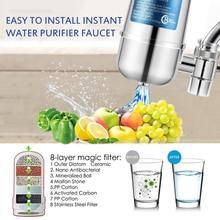 Faucet Water Filter Kitchen Sink Bathroom Mount Filtration Tap Purifier System Reusable Faucet Water Filter