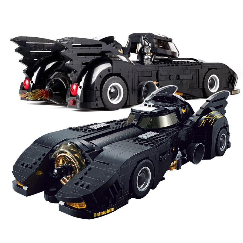 1778 pçs técnica batmobile edifício blcoks criador especialista veículo tijolos conjunto super herói modelos de filmes brinquedos para crianças presentes
