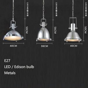 Image 4 - 3 סגנון לופט רטרו תעשייתי תליית חומרת מתכות תליון מנורת בציר E27 LED אורות למטבח בר קפה אור גופי