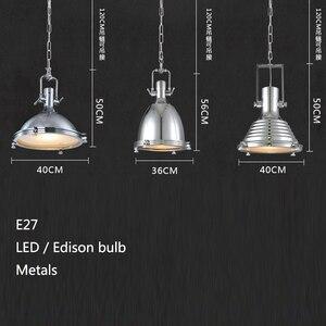 Image 4 - 3 style Loft retro Industrial hanging Hardware metals pendant lamp vintage E27 LED lights For Kitchen bar coffee light fixtures
