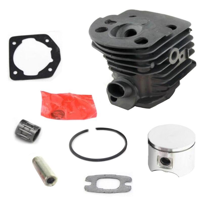 Pieza de repuesto del motor del pistón del cilindro para Husqvarna 55 51 motosierra 503609172 junta del cilindro perno del pistón herramientas de rodamiento nuevo