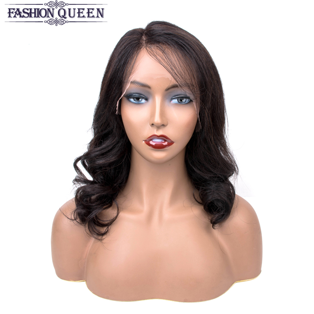 Brazilian Human Hair Wigs Body Wave Lace Wigs For Women Non Remy L-Part Hair Lace Wig Can Be Adjustable Fashion Queen