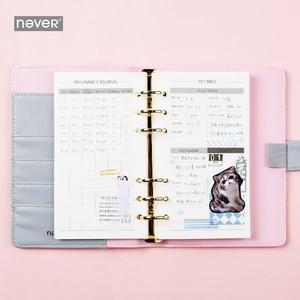 Image 2 - Carnet de notes jamais mignon, à spirale, chat, agenda coréen A6, papier de remplissage à pois, papeterie cadeau pour filles étudiantes