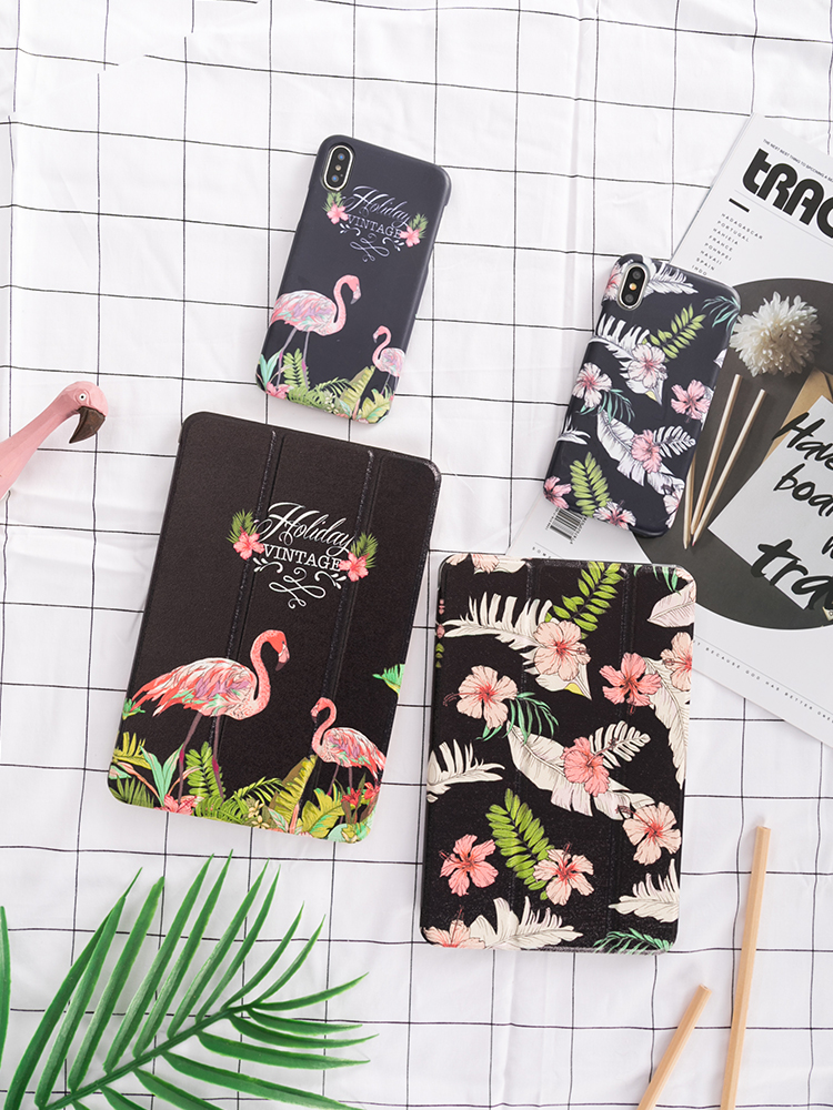 Pink Flamingo Flip Cover case For iPad Pro 9.7 air 10.5 11 12.9 10.2 Mini 2 3 4 5 2019 Tablet Case For New ipad 9.7 2017 2018 thumbnail