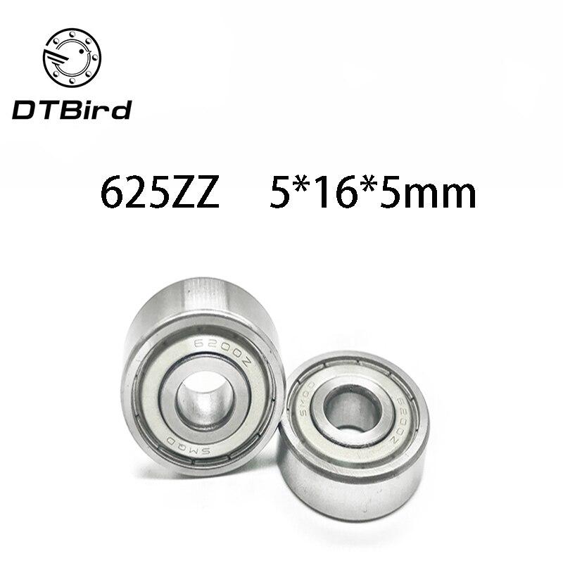 50pcs 16 lot 625ZZ 625ZZ 5X16X5mm 5 5mm 625-2Z m/étal blind/é roulement /à billes en acier
