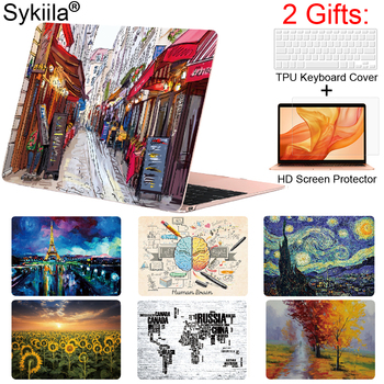 цена Sykiila Case for Macbook Pro 13 15 12 Retina Air 11 13 inch Touch Bar A1932 A2159 Matte Print Cover Brain Marble Laptop Forsted онлайн в 2017 году