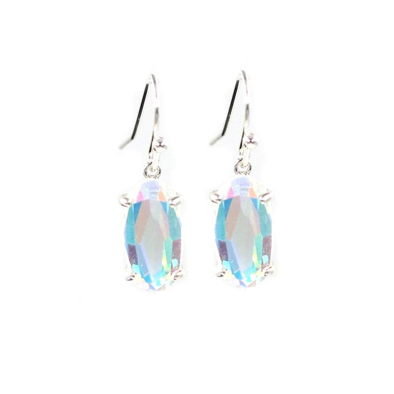 silver ab earrings