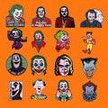 Костюмы на Хэллоуин в стиле «Джокер» эмаль на булавке На Забавные Jaquan металлическая брошка мультфильм рюкзак сумочки и шляпы, стиль воротни...