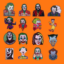 Lapel Badges Backpack Jewelry Collar Joker Cartoon Brooch Enamel-Pins Funny Halloween
