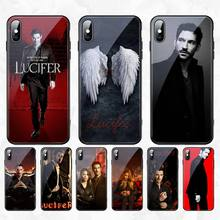 CUTEWANAN American TV Lucife Luxury Design Phone Cover Tempered Glass For iPhone 11 Pro XR XS MAX 8 X 7 6S 6 Plus SE 2020 case cutewanan american drag queen aquaria phone case cover tempered glass for iphone 11 pro xr xs max 8 x 7 6s 6 plus se 2020 case