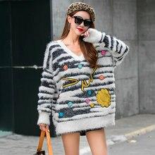 Женский свитер в европейском стиле mahai мягкий плотный вязаный