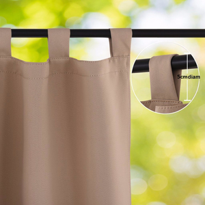 Image 2 - NICETOWN Outdoor Waterproof Curtain Tab Top Thermal Insulated Blackout Curtain Drape for Patio Garden Front Porch Gazebo