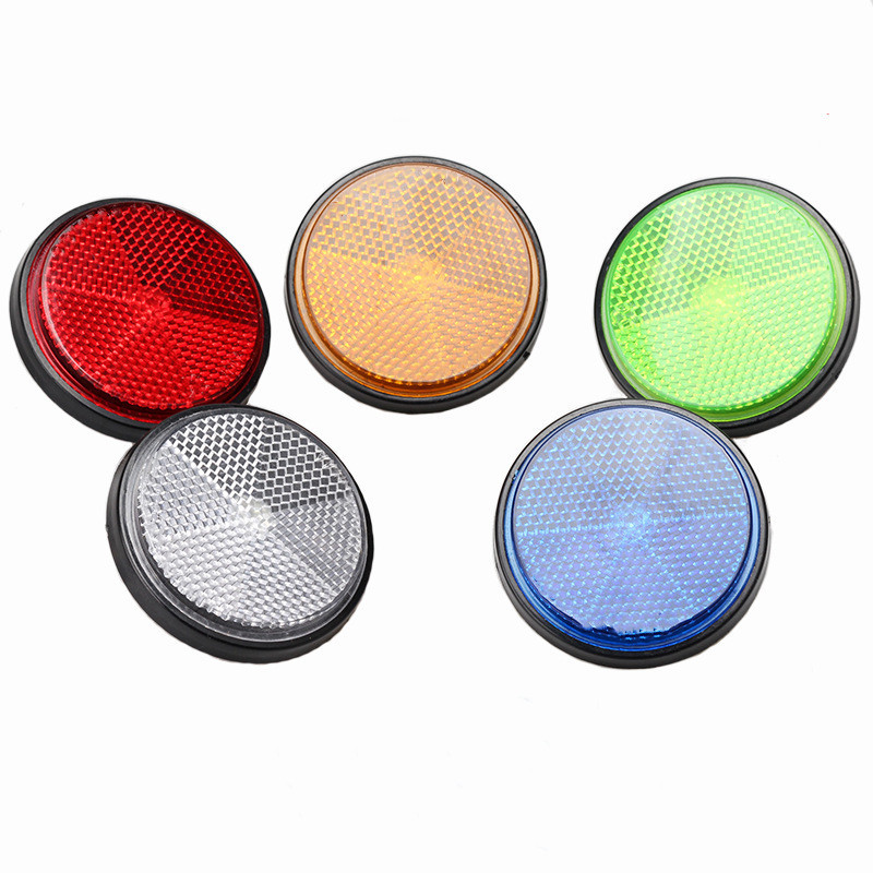 4Pcs Bicycle Round Reflector Safety Night Cycling Reflective Bike Accessories