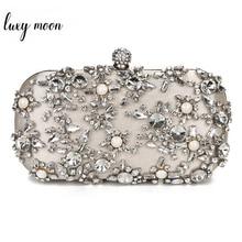 Women Clutch Bag Rhinestone Wedding Clutch Purse Luxury Womens Party Purse and Handbags Wallets Elegant Shoulder Bag ZD1279