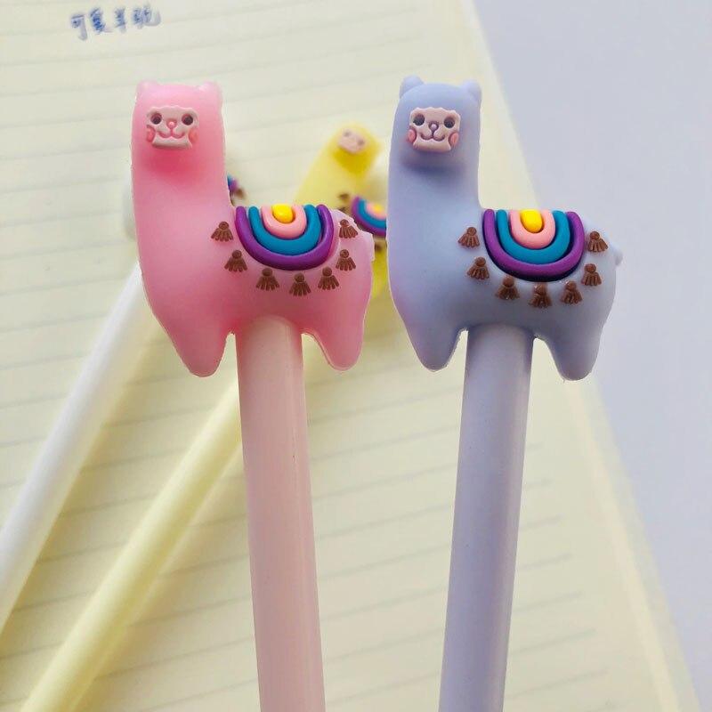 1x Colorful Llama Camel Gel Pen School Office Supply Stationery 0.5mm Blue Ink