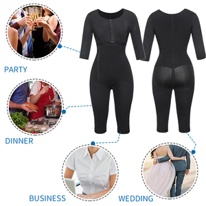 Image 5 - Women Fajas Colombianas Powernet Full Body Shaper Post Surgery BodySuit Waist Trainer Corset Shapewear Tummy Control Arm shaper