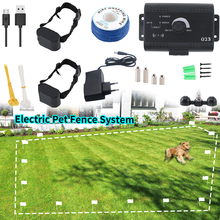 Pet Dog Electric Fence System Rechargeable Waterproof Adjustable Dog Training Collar Electronic Fencing Containment System