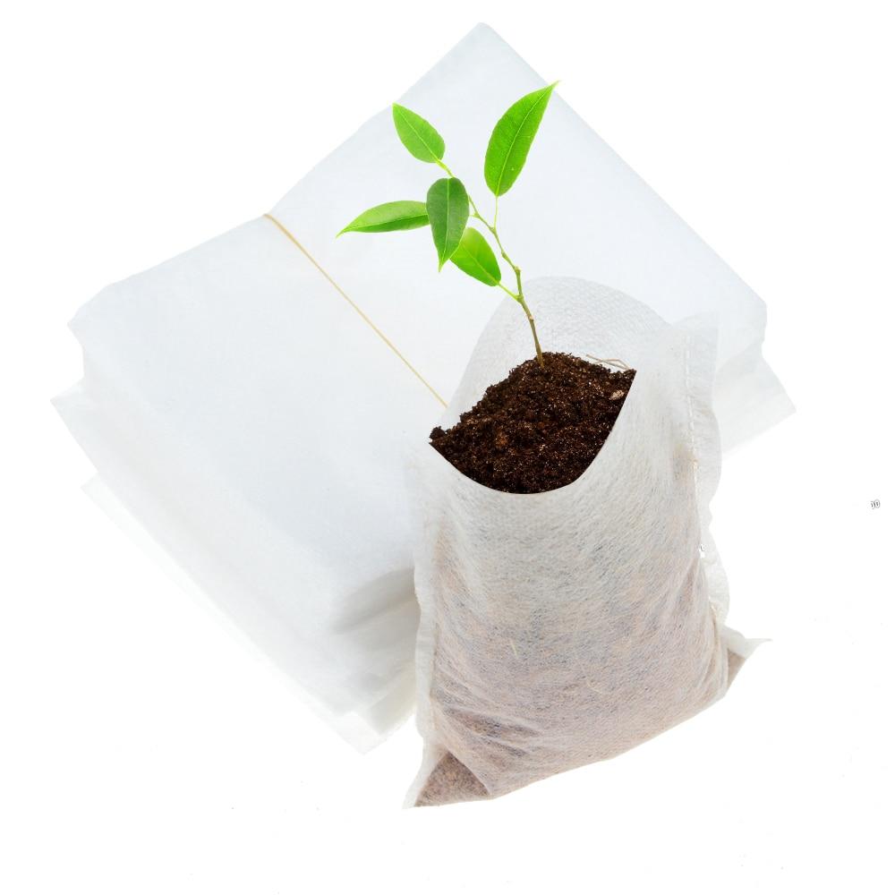 100pcs/lot 8*10cm Biodegradable Non-woven Nursery Bags 10x12cm Plant Grow Bags Fabric Seedling Pots Eco-Friendly Aeration