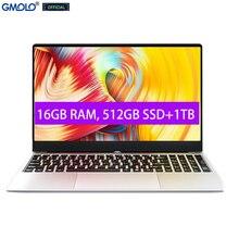 GMOLO ordenador portátil de metal para videojuegos 15,6, 16GB de RAM, 512GB de SSD, 1TB de RAM, teléfono I7 de 4. ª generación, pantalla IPS HD de 15,6 pulgadas, Windows 10