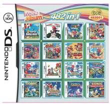 Nintendo 482 giochi In 1 NDS cartuccia di gioco confezione di carte Mario Album cartuccia per videogiochi raccolta Console per DS 2DS New3DS XL