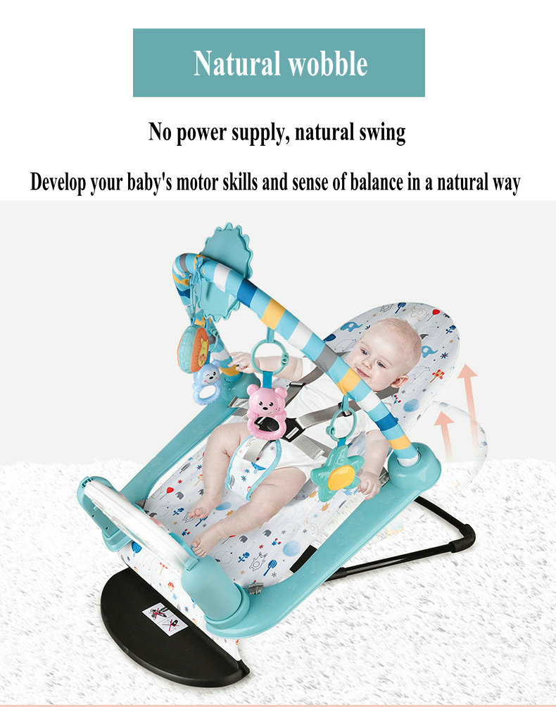 Hd15596f87bdd400e8673e0e71c39c6057 Baby Rocking Chair Newborn Electric Toy Fitness Frame Children Music Folding Swing Multifunction Comfortable Recliner Rattle